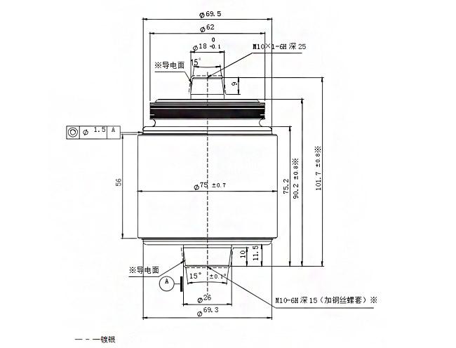 vacuum interrupter 61201 uff0812kv   630a